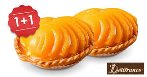 Delifrance: Enjoy 1+1 Regular Fruit Tarts with this online deal (From 25 May 2020)