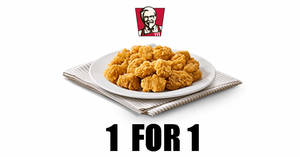 KFC: 1-for-1 Popcorn Chicken with DBS/POSB cards till 17 November 2020