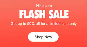 Nike.com FLASH SALE: Up to 50% off for a limited time only (From 29 May 2020)