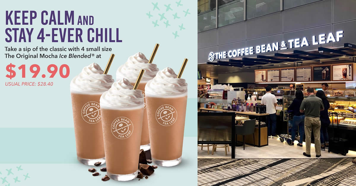 19 90 Usual 28 40 For 4 Small Size The Original Mocha Ice Blended At The Coffee Bean Tea Leaf S Pore Outlets