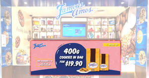 Grab Famous Amos 400g cookies in bag for $19.90 till 30 June 2020