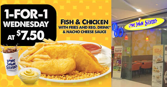 Featured image for Long John Silver's 1-for-1 Fish & Chicken promotion to return on Wednesday, 3 June 2020
