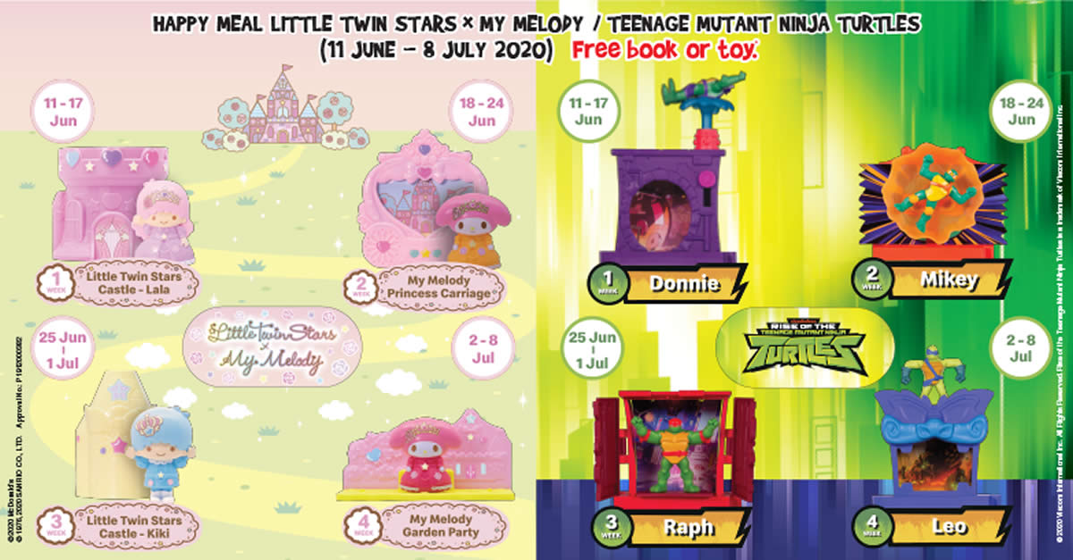 2020 McDonald little twin stars x my melody little twin stars castle lala new