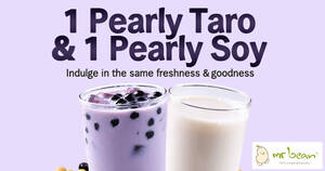 Mr Bean: 1 Pearly Taro + 1 Pearly Soy [2 Cups] bundle deal at $4.20 (U.P. $5.20) from 3 June 2020