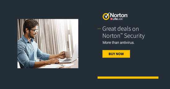 Featured image for Norton @ Black Friday: Save on AntiVirus Plus, Norton 360 Standard, and Norton 360 Deluxe from 20 Nov - 3 Dec 2020