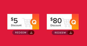 Featured image for Qoo10: Grab free $5 and $80 cart coupons till 29 June 2020
