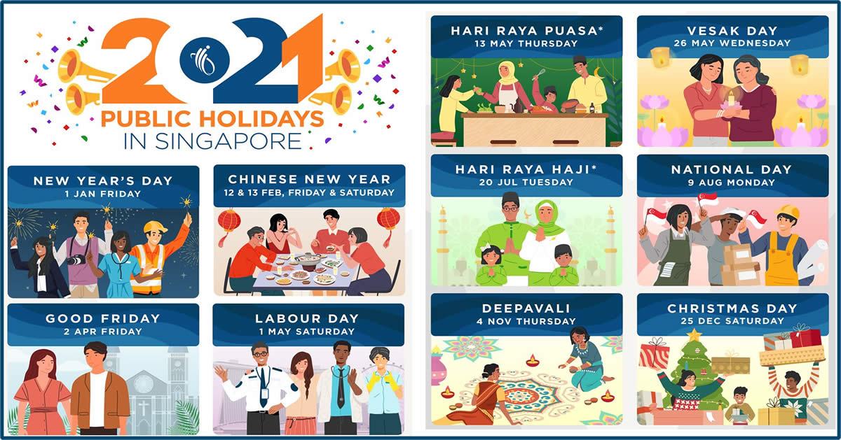 Singapore 2021 Public Holidays Four Long Weekends Updated As Of 24 June 2020