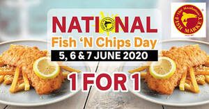 The Manhattan FISH MARKET will be offering 1-for-1 Fish 'n Chips from 5 – 7 June 2020 (Takeaway & Islandwide Delivery)