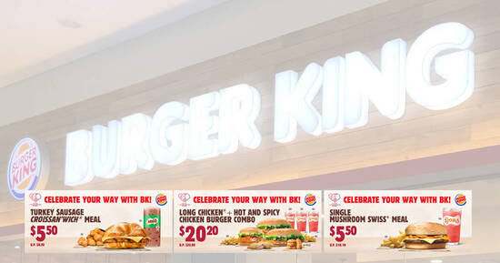 Featured image for Enjoy special deals at Burger King with these NDP coupon deals valid till 31 August 2020