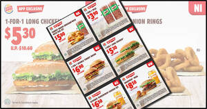 Burger King releases new coupons including 1-for-1 Milo, Onion Rings, Double Turkey Bacon & more valid till 2 Aug 2020