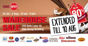 Choc Spot Warehouse sale – Hershey's, Toblerone, Maltesers, M&M's, Cadbury & More! From 24 July – 10 August 2020