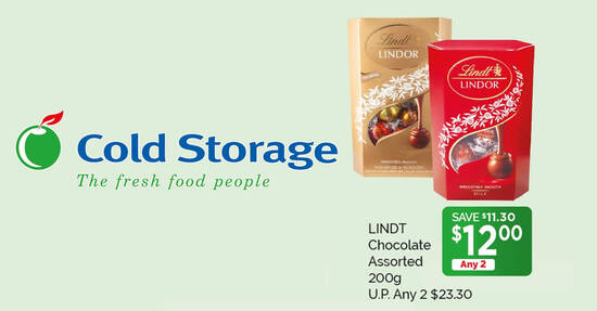 Featured image for Lindor Cornet Assorted chocolates are going at 2-for-$12 (usual $23.30) at Cold Storage till 23 July 2020