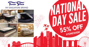 Featured image for Four Star Mattress NDP SALE UP TO 55% OFF STOREWIDE (30 July – 2 August)