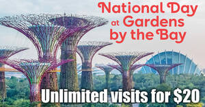 Gardens by the Bay: Enjoy 6 months of unlimited visits to Cloud Forest and Flower Dome at the price of a one day ticket