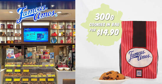 Featured image for Grab Famous Amos 300g cookies in bag for $14.90 till 31 March 2021