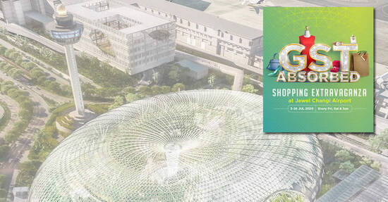 Featured image for Jewel Changi Airport: Save on GST at over 100 participating retail stores from 3 - 26 July 2020 (Every Fri, Sat & Sun)