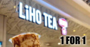 LiHO: Enjoy 1-for-1 on six selected drinks at all outlets on Thursday, 1 October 2020