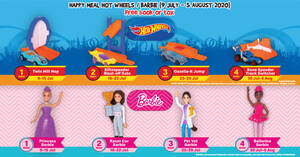 McDonald's latest Happy Meal toys features Barbie and Hot Wheels (9 July – 5 August 2020)