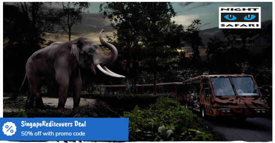Featured image for 50% OFF Admission Tickets to Night Safari for visits from 30 July - 31 October. Book by 31 July 2020