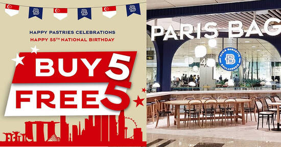 Featured image for Paris Baguette: Buy-5-Get-5-Free Any Pastries of Any Flavours till 17 August 2020