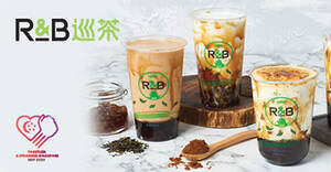 R&B Tea: Get a free topping for your drink when you flash this NDP e-coupon till 30 Sep 2020