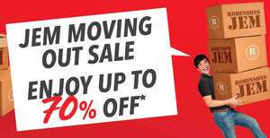 Don't Miss Out On Robinsons Jem Moving Out Sale now on till 13 September 2020