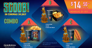 Featured image for Golden Village: Get a Scooby-Doo collectible tumbler when you purchase the GV-exclusive Scoob! Combo Set