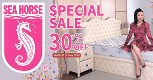 Sea Horse 30% off special sale on mattresses, pillows, sofas and more till 13 July 2020