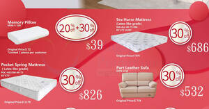 Featured image for Sea Horse 30% off sale on mattresses, pillows, sofas and more till 12 August 2020