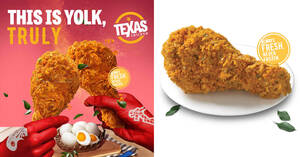 Texas Chicken brings back Real Salted Egg Fried Chicken in celebration of National Day from 16 July – 26 August 2020