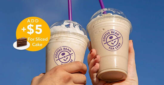 Featured image for The Coffee Bean & Tea Leaf: Two small size Ice Blended drinks at just $9.90 for all SAFRA members and SAF Personnel till 31 July 2020