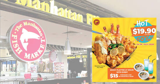 Featured image for The Manhattan FISH MARKET signature Manhattan Flaming Dory Platter is 50% off from 24 - 26 July 2020
