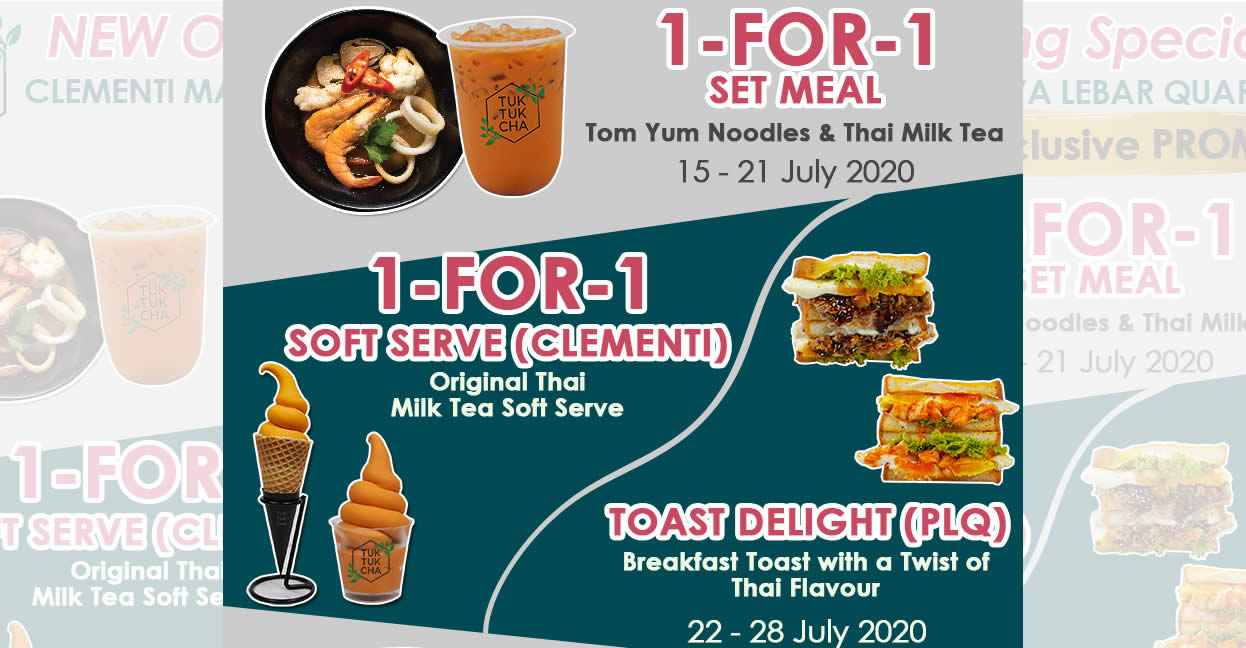 Featured image for Tuk Tuk Cha 3-week Opening Specials at Clementi Mall & Paya Lebar Quarter till 4 August 2020