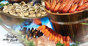 Window on the Park: 1-for-1 Lunch & Dinner Buffets (Local, Asian & Seafood) till 11 November 2020