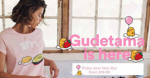 Featured image for Cotton On Body is now offering Gudetama sleepwear from S$19.99 (From 21 Aug 2020)