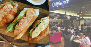 Delifrance: Grab Seafood D'sire and Egg D'vine sandwiches at 2-for-$10.90 from 14 August 2020