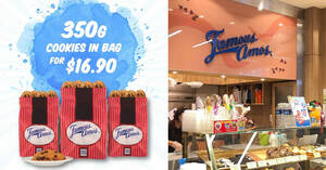 Grab Famous Amos 350g cookies in bag for $16.90 from 1 – 31 August 2020