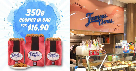 Featured image for Grab Famous Amos 350g cookies in bag for $16.90 from 1 - 31 August 2020