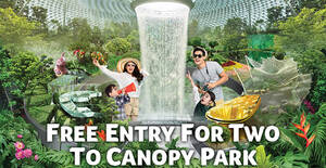 Jewel Changi Airport: Free Entry to Canopy Park With Any Purchase till 30 September 2020