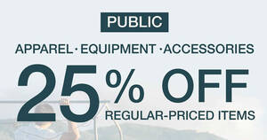 The North Face: 25% OFF on all regular-priced apparels, equipment and accessories till 23 August 2020