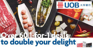 Double your delight with over 60 1-for-1 deals for UOB cardholders