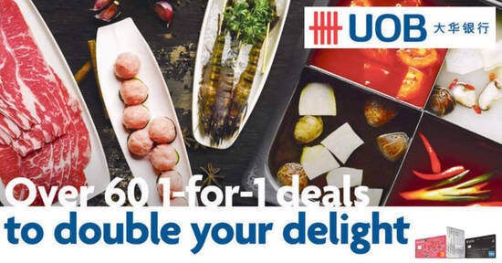 Featured image for Double your delight with over 60 1-for-1 deals for UOB cardholders