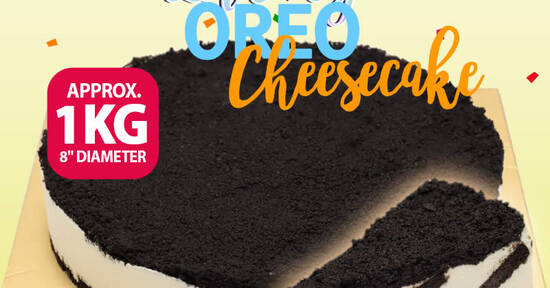 Featured image for $19.90 1KG Lucky Oreo Cheesecake Made With Real Oreo Cookies and Philadelphia Cream Cheese (free delivery) from 8 Sep 2020