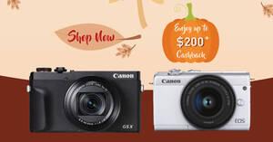 Featured image for Canon: Harvesting Memories – Enjoy up to $200 cashback on digital cameras till 30 September 2020