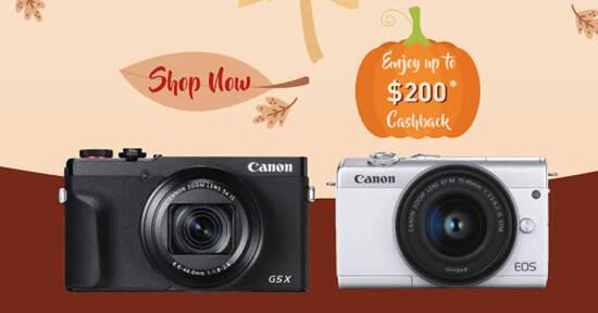 Featured image for Canon: Harvesting Memories - Enjoy up to $200 cashback on digital cameras till 30 September 2020