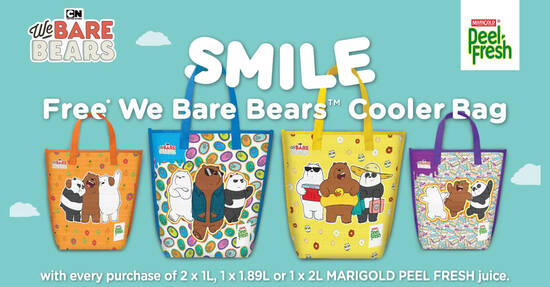 Featured image for Free We Bare Bears cooler bag when you purchase Marigold Peel Fresh till 5 October 2020