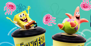 Grab your favourite Spongebob or Patrick cup topper with the Spongebob combo at Golden Village this Oct '20