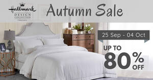 Hallmark Bed & Bath Autumn Sale from 25 Sep – 4 Oct 2020