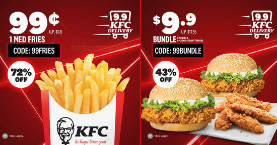 Featured image for KFC Delivery: Here are some exclusive 9.9 delivery deals valid till 15 September 2020