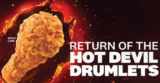 Featured image for KFC Hot Devil Drumlets are back! From 2 September 2020
